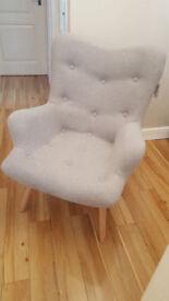 Grey Retro Armchair