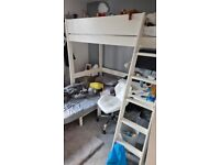Dreams single sleeper bed with chair and desk like new