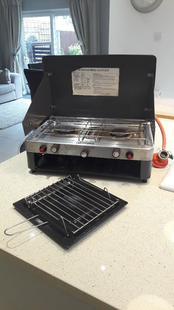 Higear Double Camping Stove with Grill
