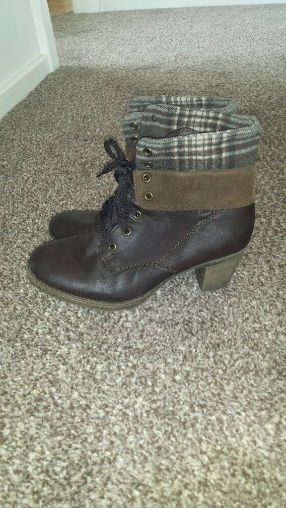Ancle boots 7. Leather brown