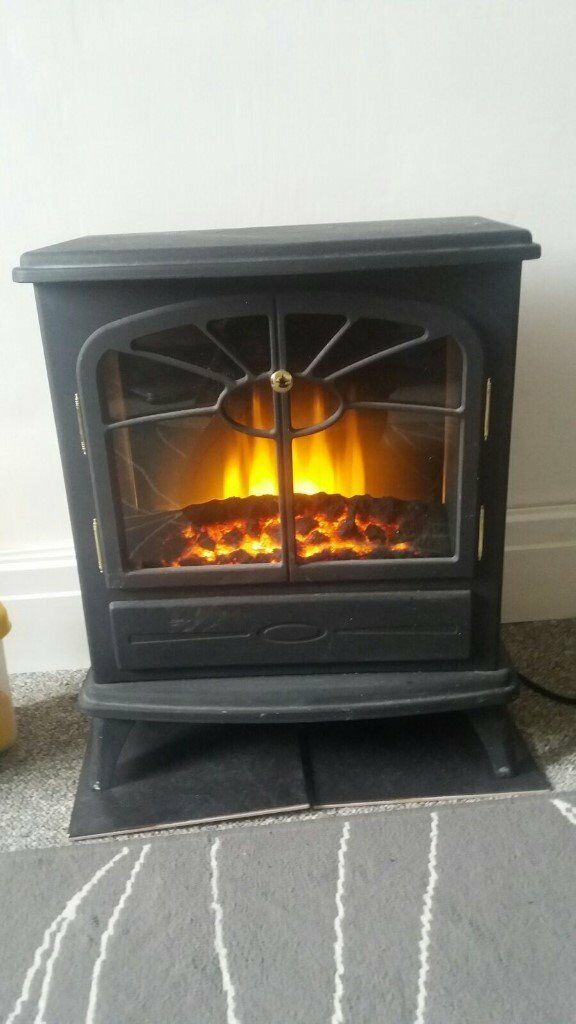 Electric Fire Log Burner Fireplace Home Furniture Shabby Chic Farmhouse Bedroom Chair Farm Cottage