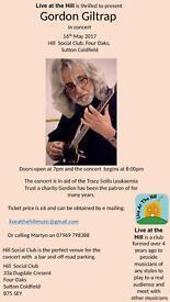 Gordon Giltrap gig in Sutton Coldfield 16th May