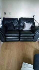 Black 2 seater settee
