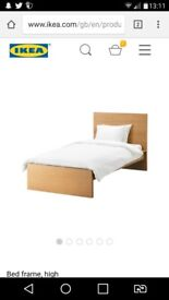 Ikea Malm Wooden Single Bed