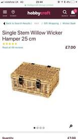 Wicker hamper baskets