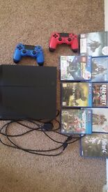Playstaion 4 500gb, 8 games and 2 controllers