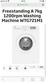 Unused New Beko 7kg Washing Machine RP £250