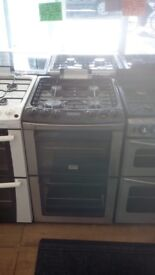ZANUSSI 55CM ALL GAS COOKER WITH LID IN SILIVER