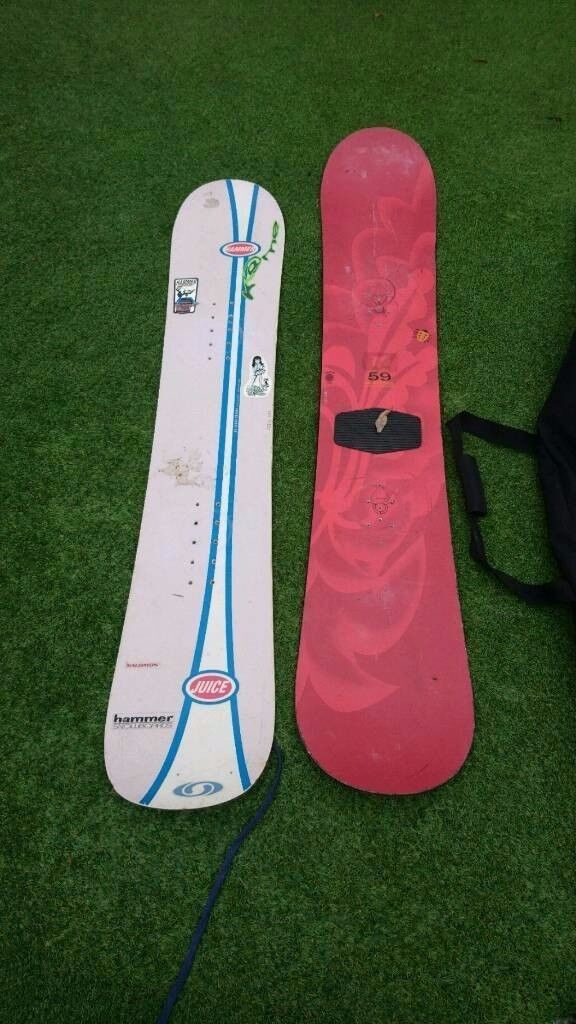 990447f737de Burton 158cm snowboard   Hammer 141cm snow board With Carry bag