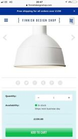 Ceiling light. Muuto unfold pendant lamps White