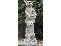 meerkat family Garden/Home concrete stone (still available)