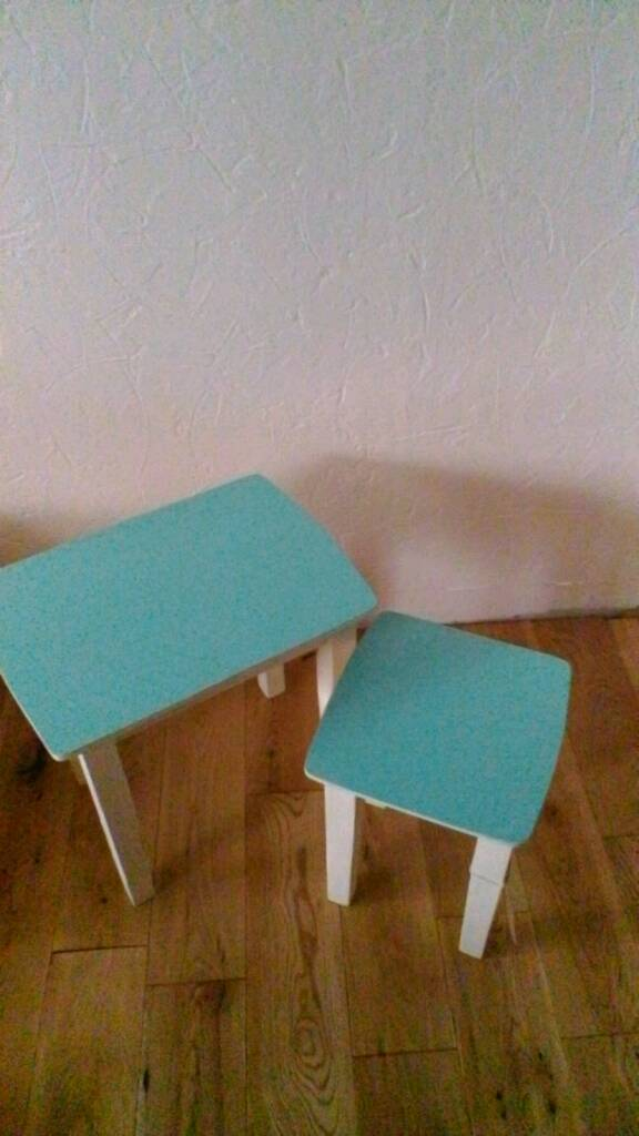 Near of 2 tablesin Markinch, FifeGumtree - Nest of 2 tables painted in teal furniture paint and cream chalk paint lightly distressed and waxed for protection. Dimensions of larger table H 15 and half inches W 15 and half inches. D 11 And half inches . Look lovely anywhere in the home. Pick up...