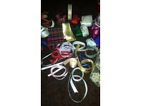 Large assortment of bindings, braid and ribbons for sewing or craft projects