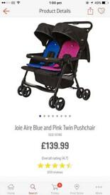 Double pushchair / twin pushchair pram brand new condition