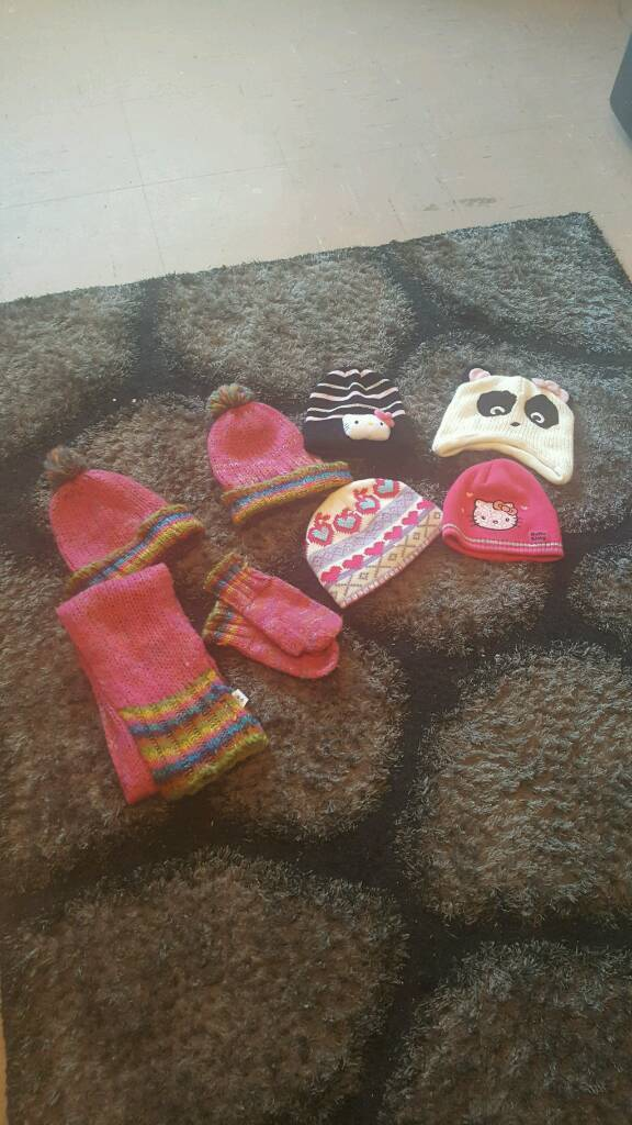 Kids assortment of hats and mits