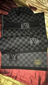 LV scarf/hat set authentic
