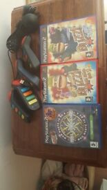 PS2 Buzz games and controllers