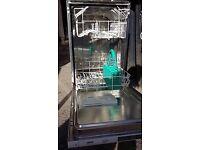 Slimline Zanussi Integrated dishwasher fully working