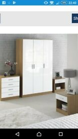 Wardrobe, chest of drawers and bedside tables