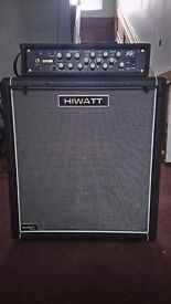 Bass head and Cab. Peavey Pro Bass 500 and Hiwatt Cab.