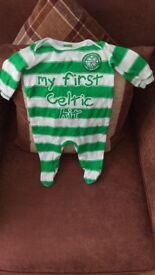 Celtic baby sleepsuit and romper set