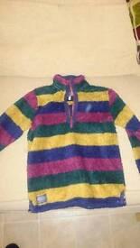 Joules stripe fleece jumper