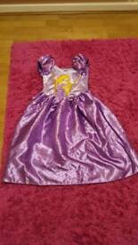 Rapunzell Tangled children's dressing up costume. Age 5-6