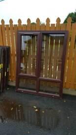 Brown pvc windows