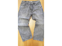 "MENS LEVIS SIGNATURE RED TAB BRANDED VINTAGE 569 LOOSE FIT DESIGNER DENIM JEANS 36""W-30""L"