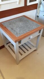 Marble topped Butchers Block