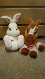 Milky the bunny and toffee the pony