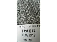 1 KASABIAN TICKET 20TH AUGUST CUSTOM HOUSE SQUARE FACE VALUE