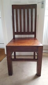 Beautiful solid wood chairs (2)