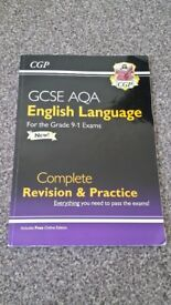 GCSE CGP 9-1 AQA ENGLISH LANGUAGE COMPLETE REVISION AND PRACTICE *NEW*