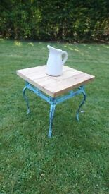 Butcher Block Top Style Lamp Table / Side Table