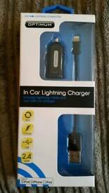 In-Car Lightning Charger IPhone IPad BNIB