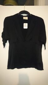 (New with Tags) Urban Outfitters Satin Black Top