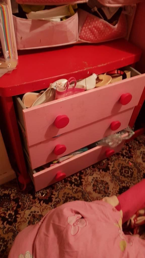 Chest pink door