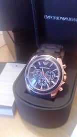 mens armani watch fully boxed and working