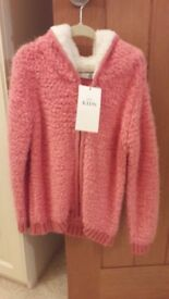 Brand NEW Girls Marks and Spencer Fleece Hoodie size 6-7yrs