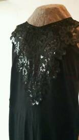 Lipsy Jumpsuit with Sparkle Detail size 8