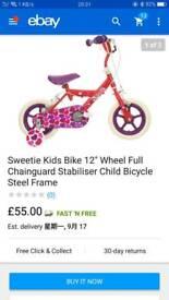"""Girls bike 12"""""""