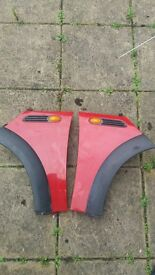 Mini Spares : Front wings, Radiator, Various spares etc