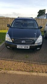 Automatic KIA Sedona,2007 reg,7 seater,black,