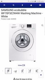 White samsung washing manchine ecobubble 7kg