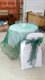 Wedding items for sale sashes table clothes vases