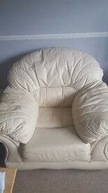 3 seater and 2 chairs plus footstool. Good condition. Selling as getting new one
