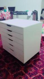 Ikea white chest unit drawer unit mint condition