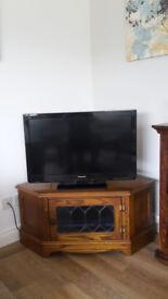 Oak veneer corner TV cabinet by Old Charm