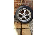 Vauxhall Fox RS alloy wheels 17 inch with good tyres to fit vauxhall 5x110 stud pattern 215x50x17